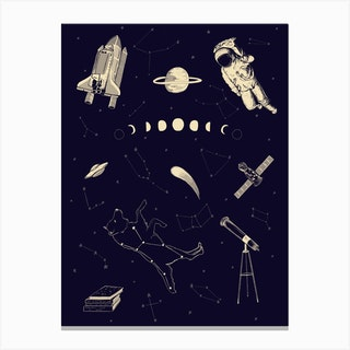 Space Flash Canvas Print
