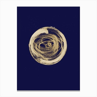 Full Circle 3 Blue Canvas Print