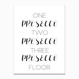 One Prosecco Canvas Print