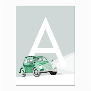 A Auto Canvas Print