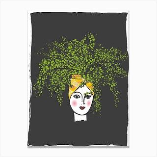 Leafy I Canvas Print