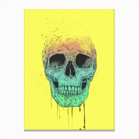 Pop Art Skull Canvas Print