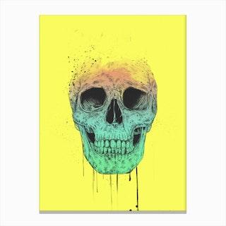 Pop Art Skull Canvas Print