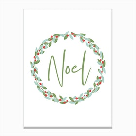 Noel Holiday Canvas Print
