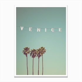 Venice Beach Palms I Canvas Print