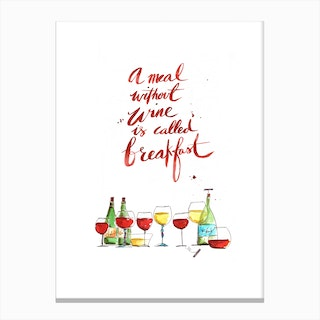 Without Wine Canvas Print