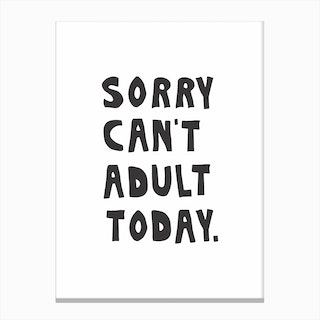Cant Adult Canvas Print