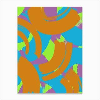 Giant Brushstrokes Canvas Print