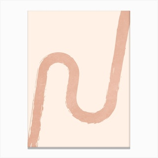 Abstract Brush Stroke 6 In Champagne Canvas Print