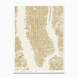 New York Gold Canvas Print
