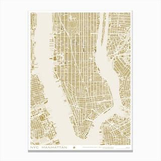 New York Gold Canvas Print