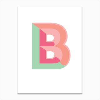 Tropical Initial B Canvas Print