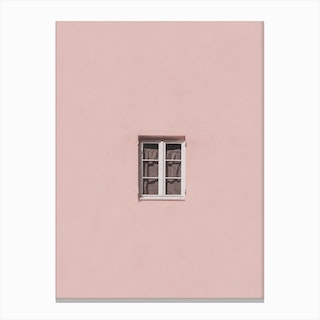 Pink Window Print Canvas Print