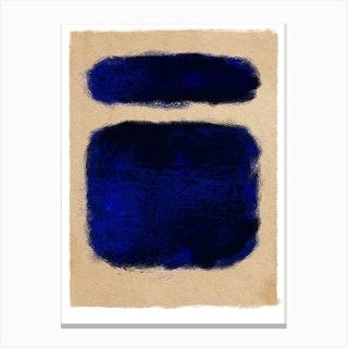 Blue On Beige Canvas Print