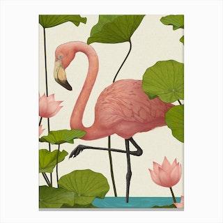 Flamingo V Canvas Print