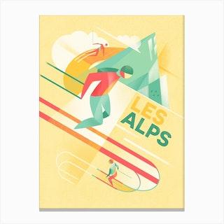 Retro Ski Canvas Print