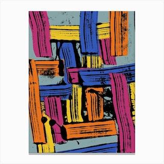 Multi Brushstrokes Canvas Print