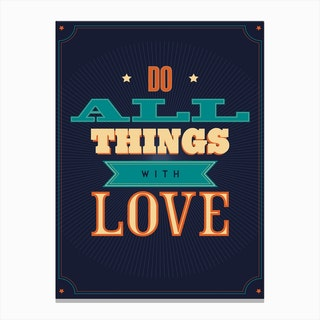 Do All Things Canvas Print