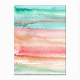 Gradient Watercolor Melon Canvas Print