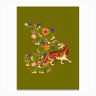 Tiger Tapestry Canvas Print