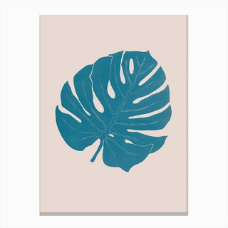 Monstera Celeste Rosa Canvas Print