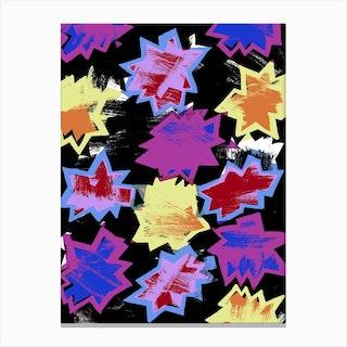 Scratchy Stars Canvas Print