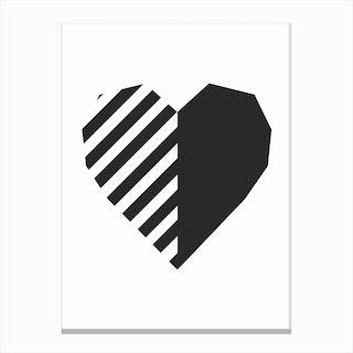 Heart Print Canvas Print