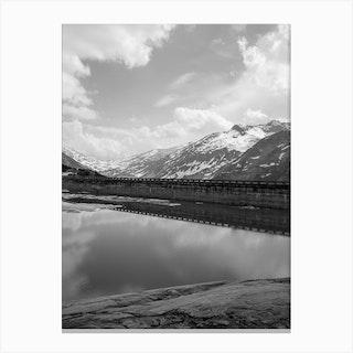 Mountain Dam Canvas Print