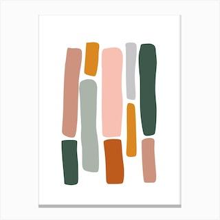 Rainbow Abstract 01 Canvas Print