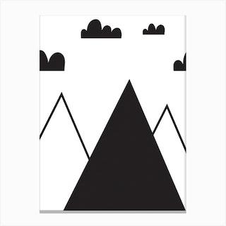 Scandi Mountain Canvas Print