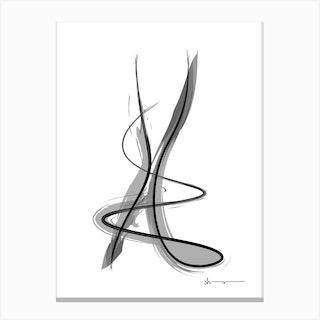 Spiral Strokes 11 Canvas Print
