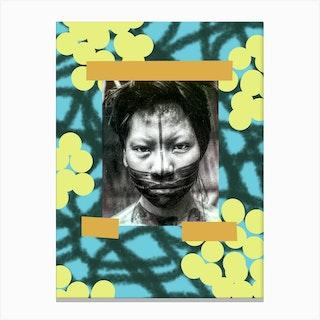 Boys Face Canvas Print