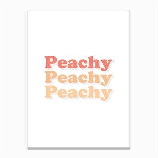 Peachy Peachy Peachy Canvas Print