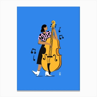 Cello Lady Canvas Print