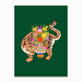 Good Luck Tiger Canvas Print