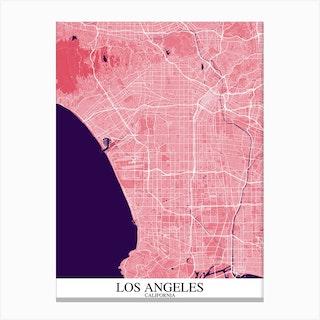 Los Angeles California Pink Purple Canvas Print