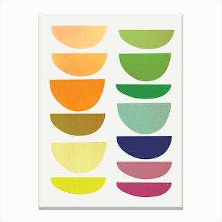 Half Moons - Rainbow Canvas Print