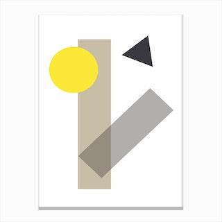 Yellow Geometric Shapes Canvas Print