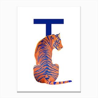 T Tigre Canvas Print