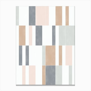 Muted Pastel Tiles 01 Canvas Print