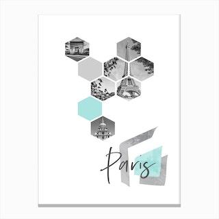 Urban Design Paris Turquoise Canvas Print