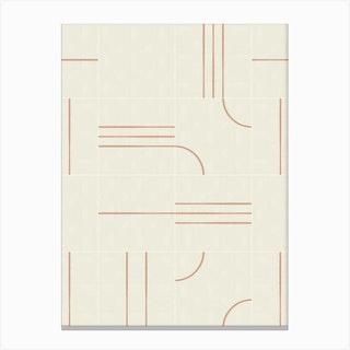 Minimal Wall Tiles 02 Canvas Print