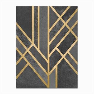Art Deco Geometry I in Canvas Print
