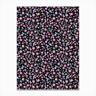 Planets Constellation Pink Canvas Print
