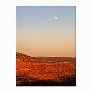 Morning Moon Kalbarri National Park Australia Canvas Print