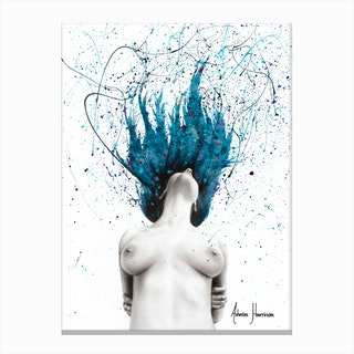 Her Exhale Canvas Print