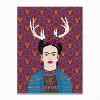 Deer Frida in Canvas Print