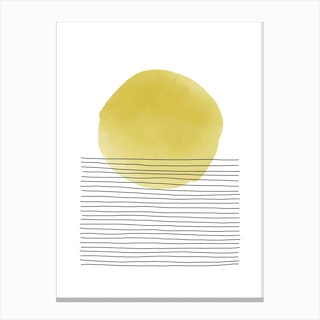 Yellow And Grey Sunset Canvas Print