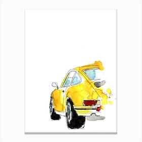 Yellow Porsche 911 Canvas Print