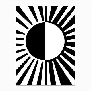 Ray Light Black Canvas Print